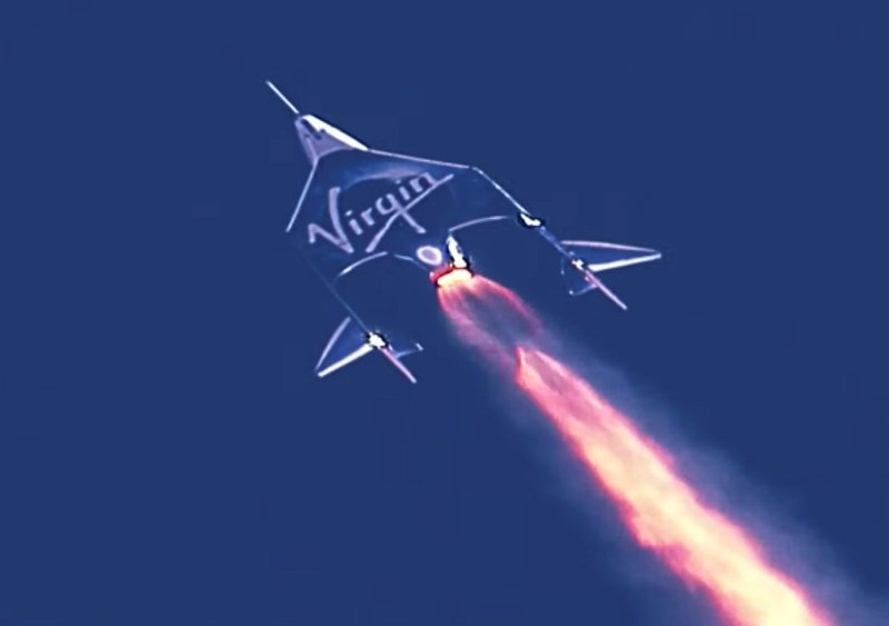 Virgin Galactic rocket plane in flight