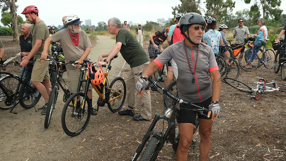 Francisco Quiroz (front) pleads motorists to be cautious around bikers. Photo by Chris Stone