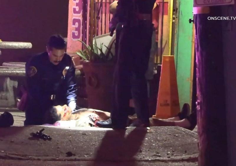 Officers assist stabbing victim