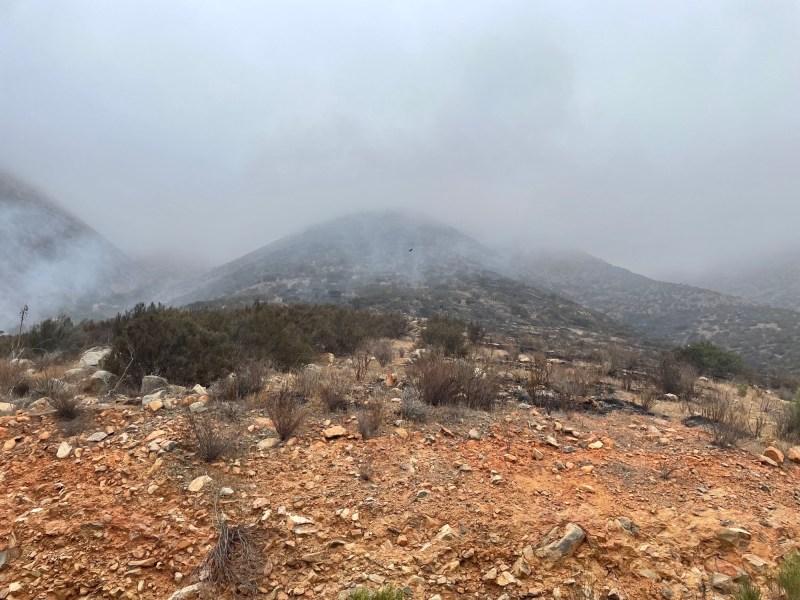 Otay Wilderness fire