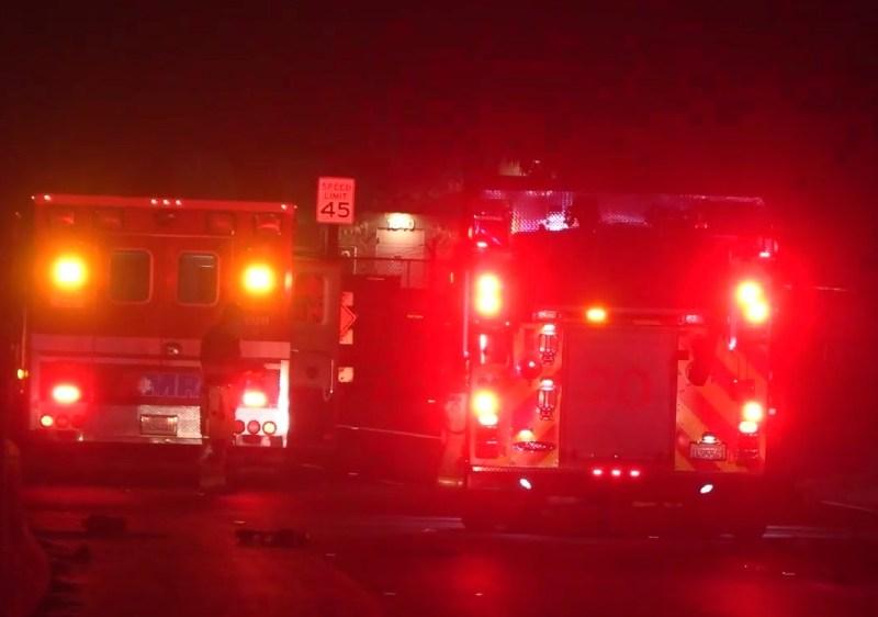 Emergency vehicles on Ingraham Street