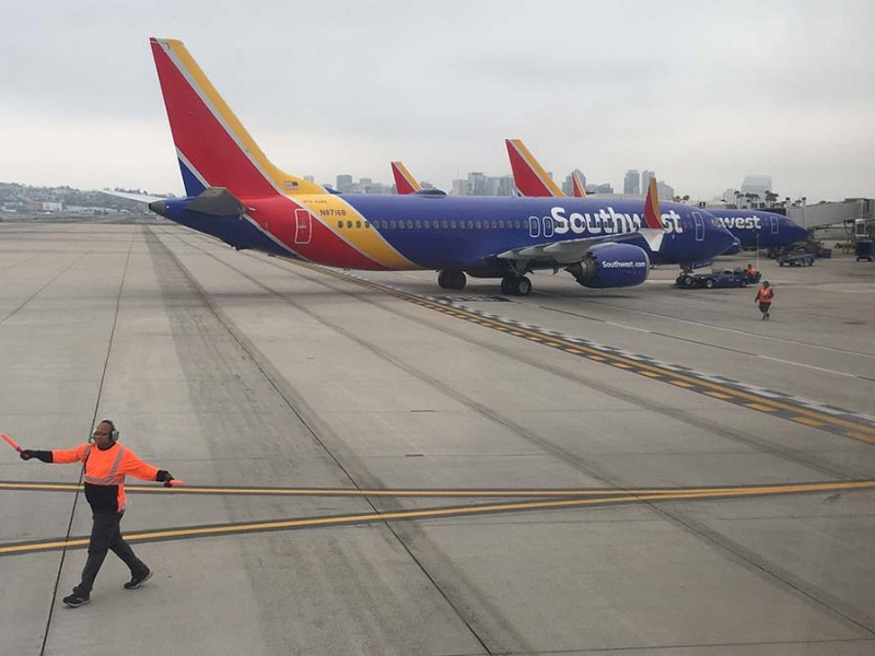 Southwest jets at airport