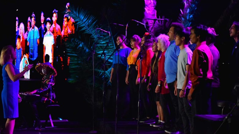 The San Diego Mesa College Choir performed at the gala in honor of Dr. Constance Carroll. Photo by Chris Stone