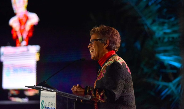 Former SDCCD Chancellor Constance Carroll was praised for her intelligence, compassion and humor. Photo by Chris Stone