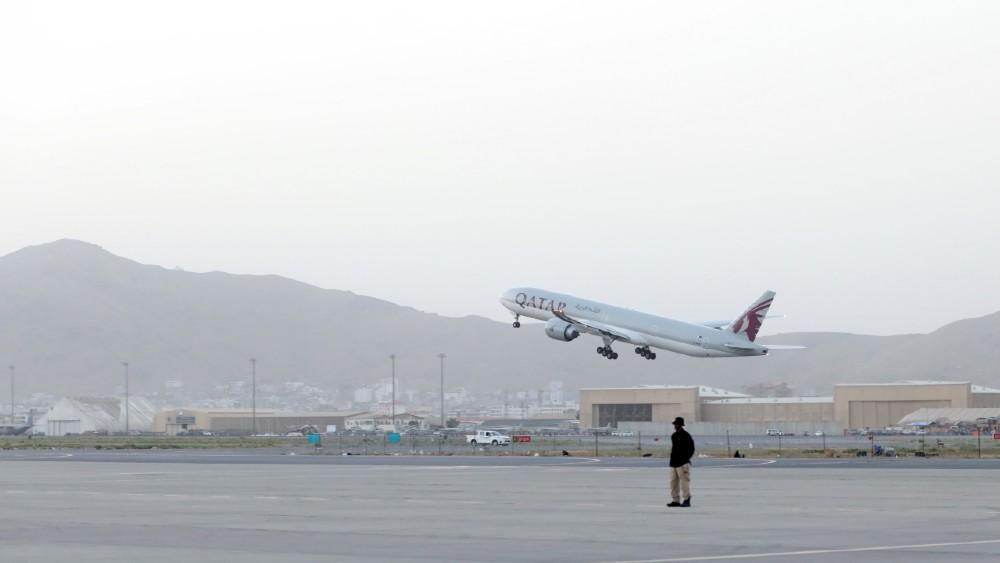 Qatar Airways flight leaves Kabul