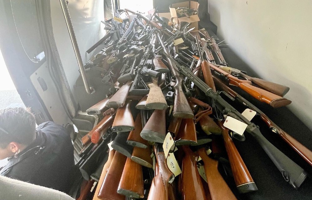 Guns collected by police