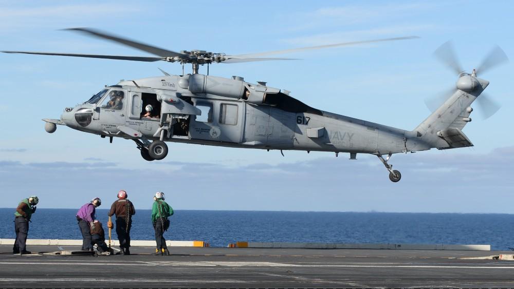 MH-60S Seahawk lands