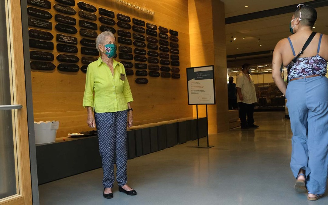 """Volunteer Nancy Fletcher, 93, finds the reopened museum """"much more welcoming."""" Photo by Chris Stone"""