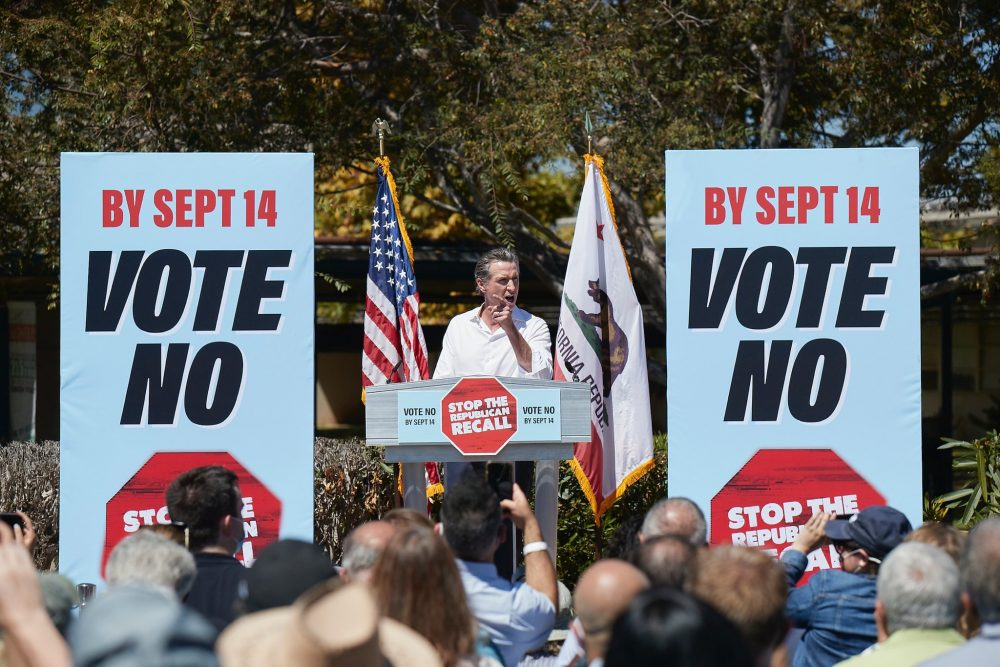Gavin Newsom campaigns