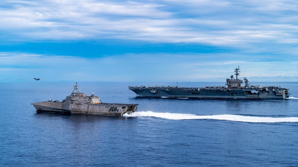 USS Tulsa and USS Carl Vinson