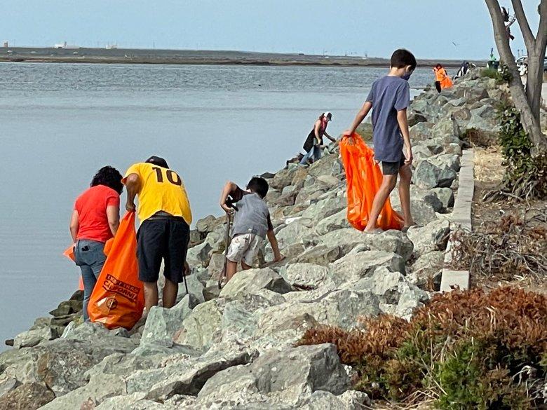 Volunteers clean up around San Diego Bay