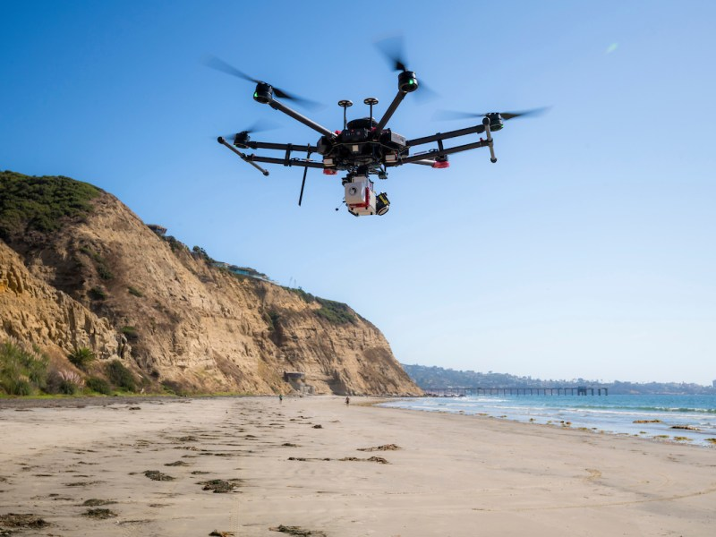 Drone measures erosioin