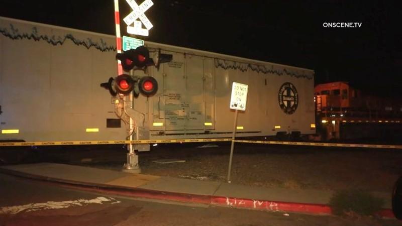 Train fatality scene