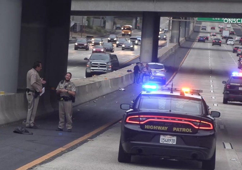 CHP officers at scene