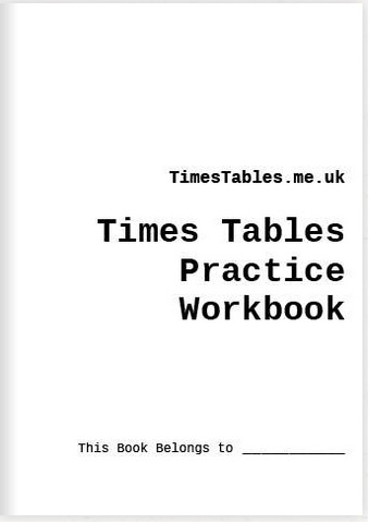 Buy the TimesTables.me.uk Times Tables Practice Workbook