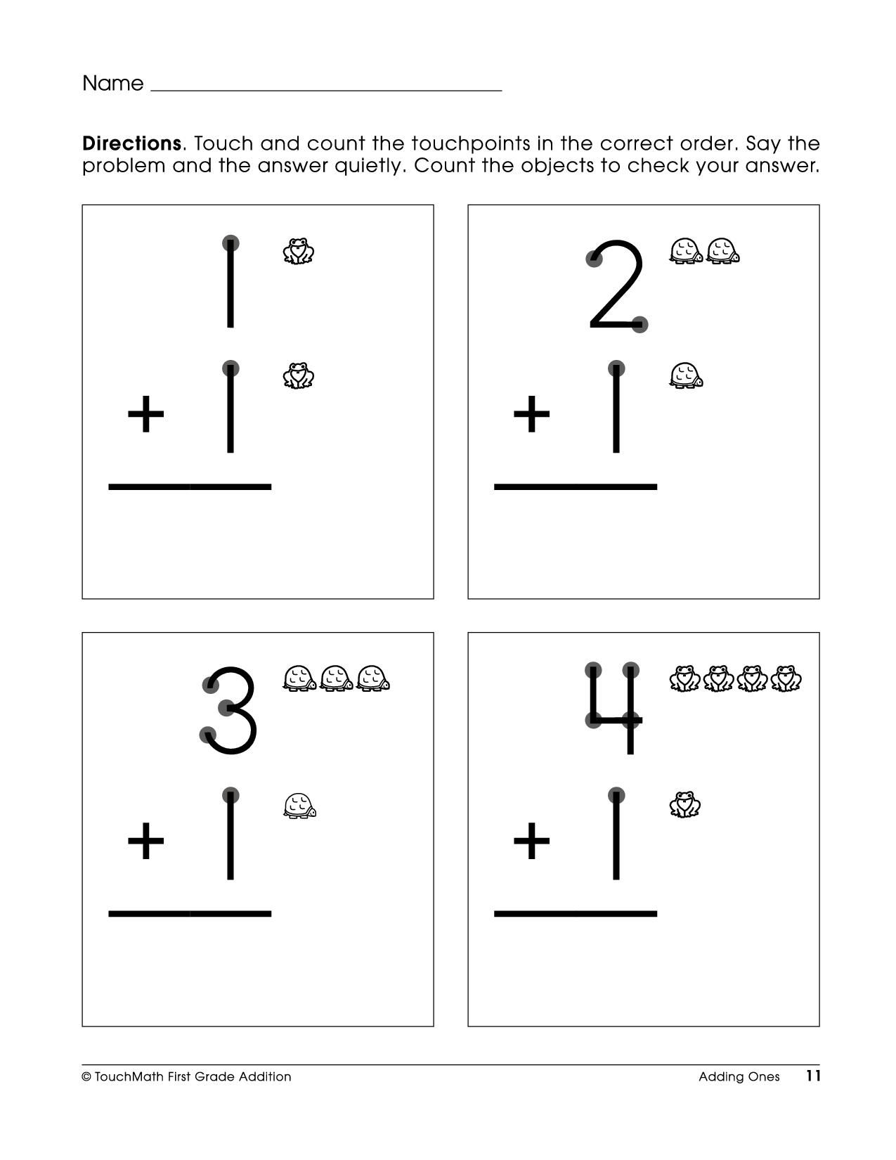 Free Touch Math Multiplication Worksheets