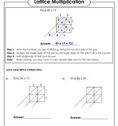 Practice Lattice Multiplication Worksheet   Printable Worksheets and  Activities for Teachers [ 1651 x 1275 Pixel ]