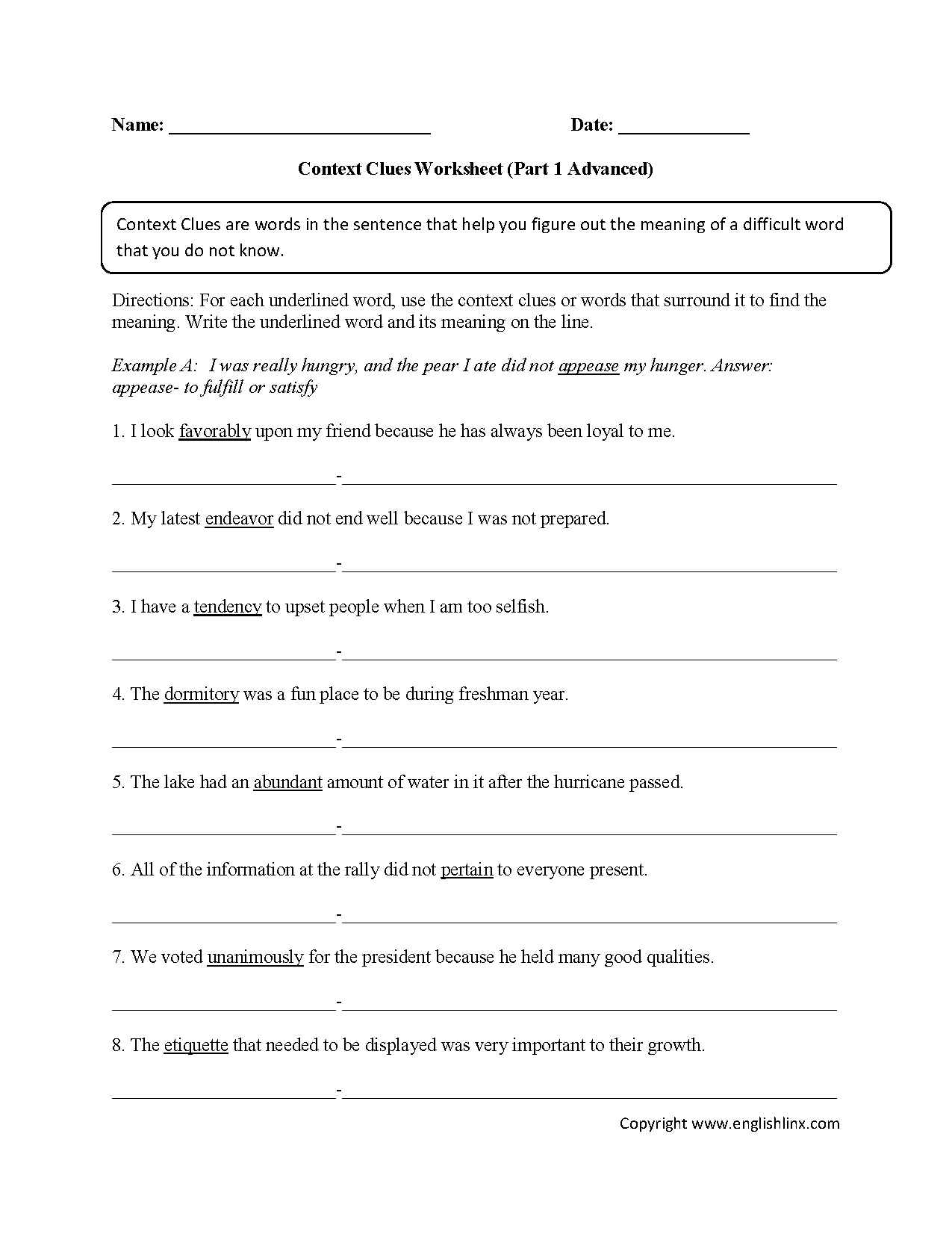 hight resolution of Context Clues Worksheets 1st Grade   Printable Worksheets and Activities  for Teachers
