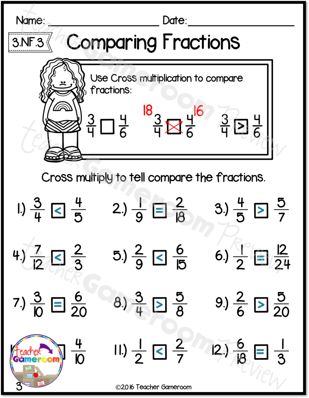 medium resolution of Comparing 4 Fractions Worksheet   Printable Worksheets and Activities for  Teachers
