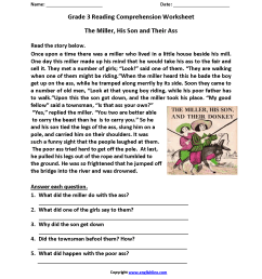3rd Grade Reading Comprehension Worksheets Multiple Choice   Printable  Worksheets and Activities for Teachers [ 2200 x 1700 Pixel ]
