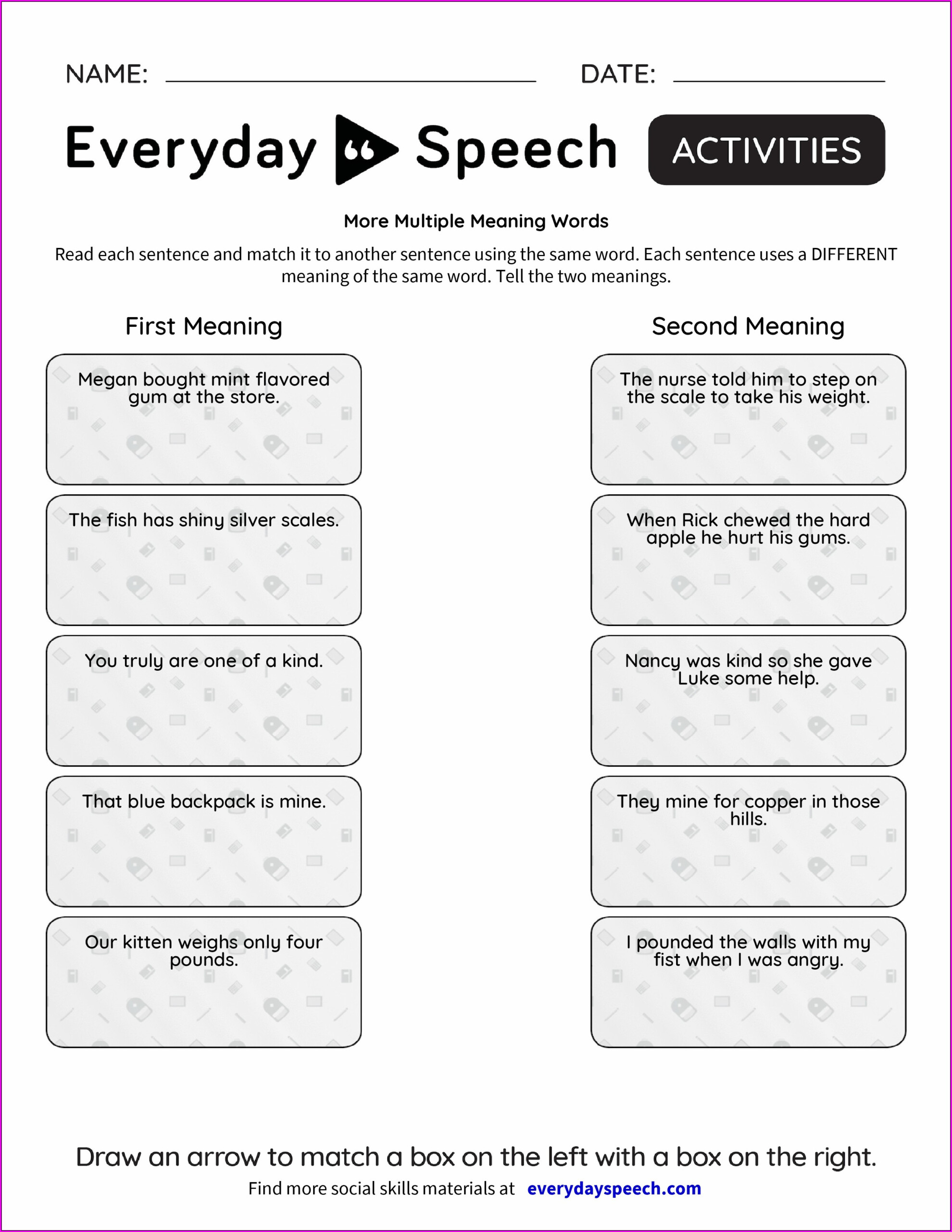 Multiple Meaning Words Worksheets 3rd Grade