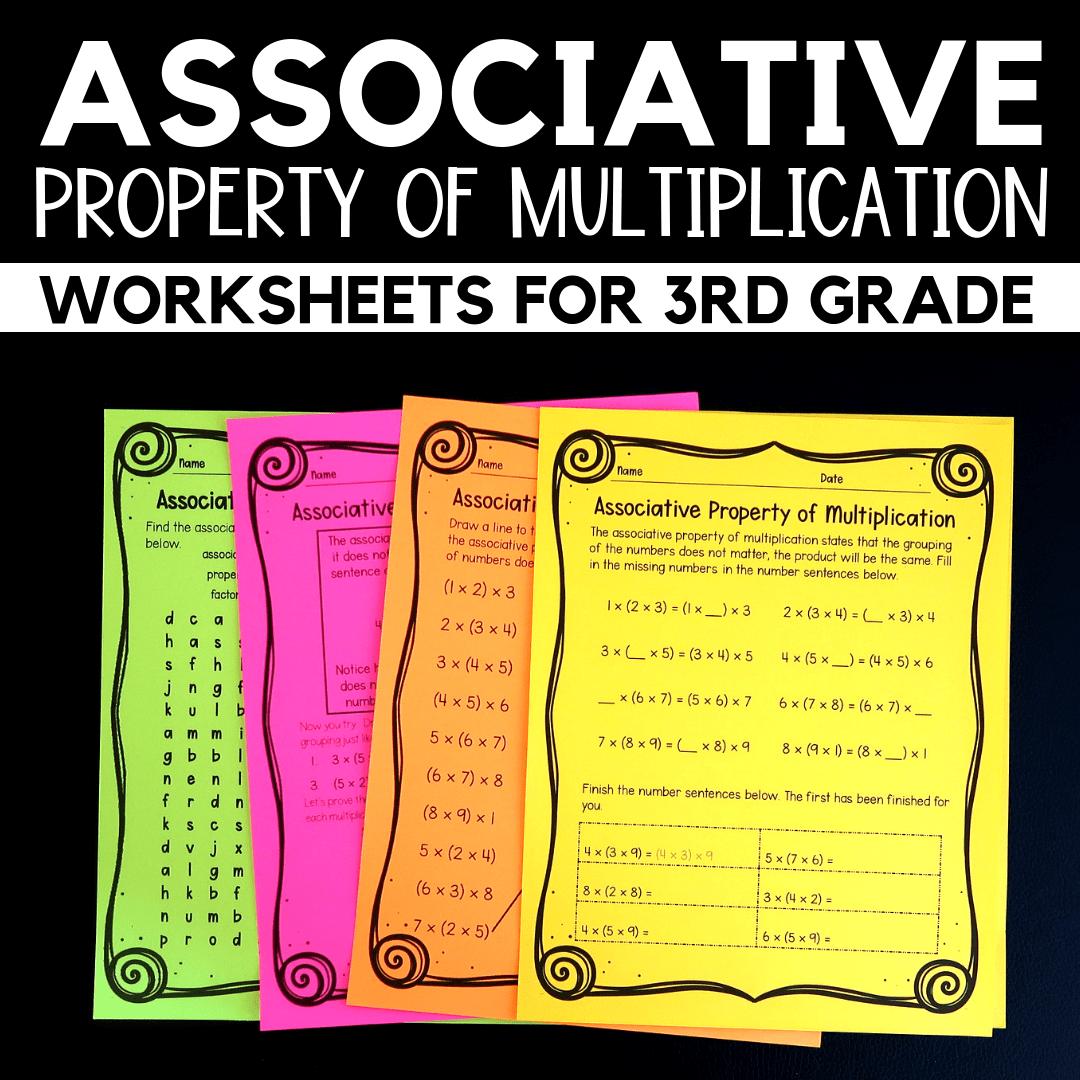 Properties Of Multiplication Grade 3 Worksheets