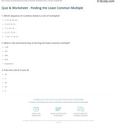Common Multiples Worksheet   Printable Worksheets and Activities for  Teachers [ 1241 x 1140 Pixel ]
