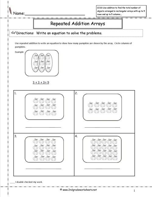 small resolution of Multiplication Arrays Printable Worksheets   Printable Worksheets and  Activities for Teachers