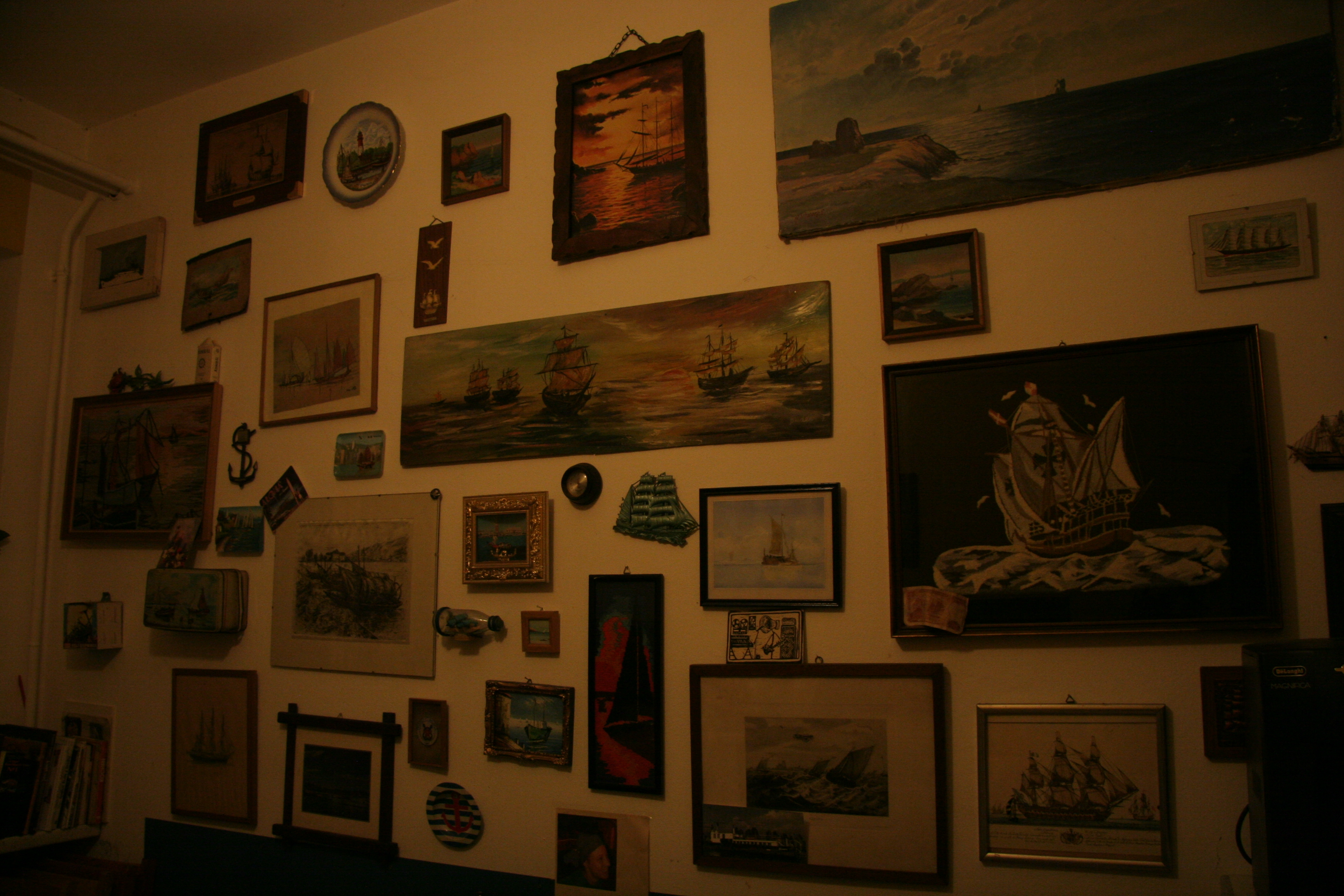 A view of one wall of the Galley Gallery