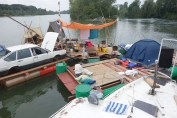 An overview of several Floating Village vessels.