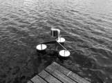 Testing the Savonius-Rotator on the water.