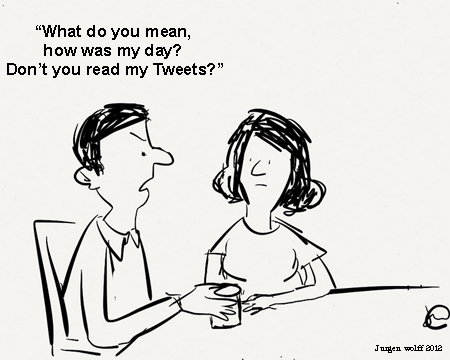 Just for fun (cartoon about how we communicate these days