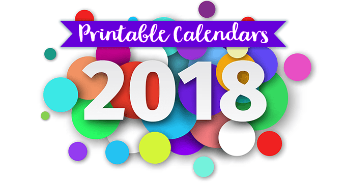 Monthly Printable Calendars for 2018 - Time-Warp Wife