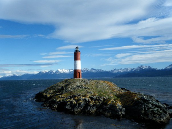 The Les Eclaireurs Lighthouse in the Beagle Channel