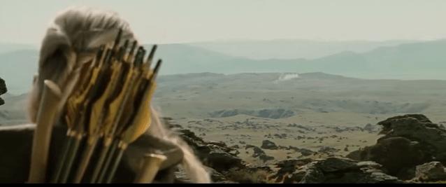 """The original """"taking the hobbits to isengard"""" scene."""