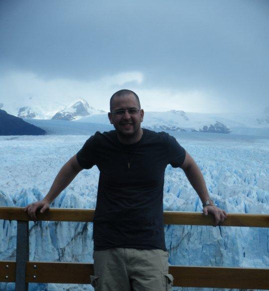 Chilling out at the Perito Morena Glacier, Argentina.