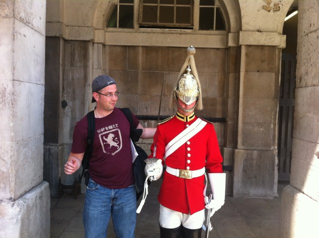 I get a little too close to a royal guardsman...