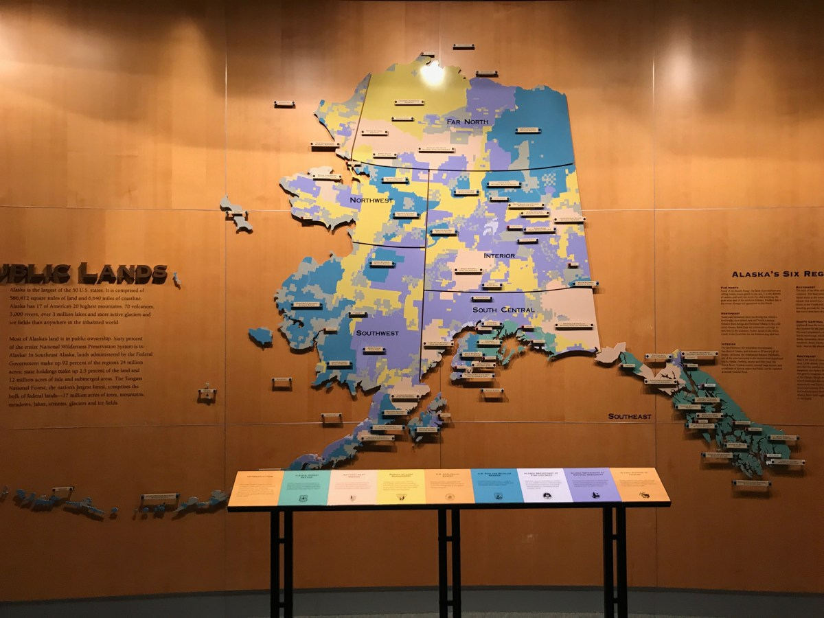 Alaskan land is mostly publicly owned!