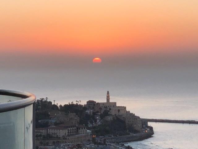 Sunset over Jaffa.