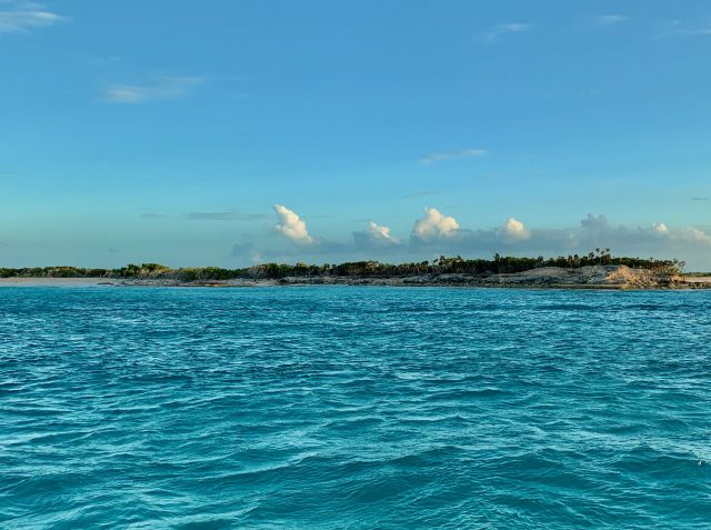 Turks and Caicos from a boat
