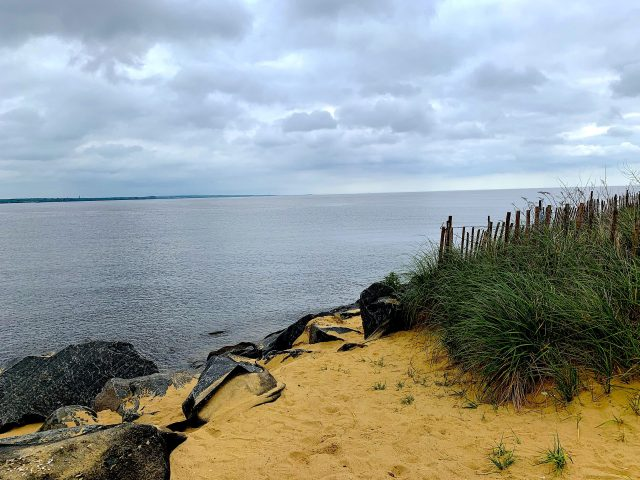 Sand dune in Lawrence Harbor, NJ.