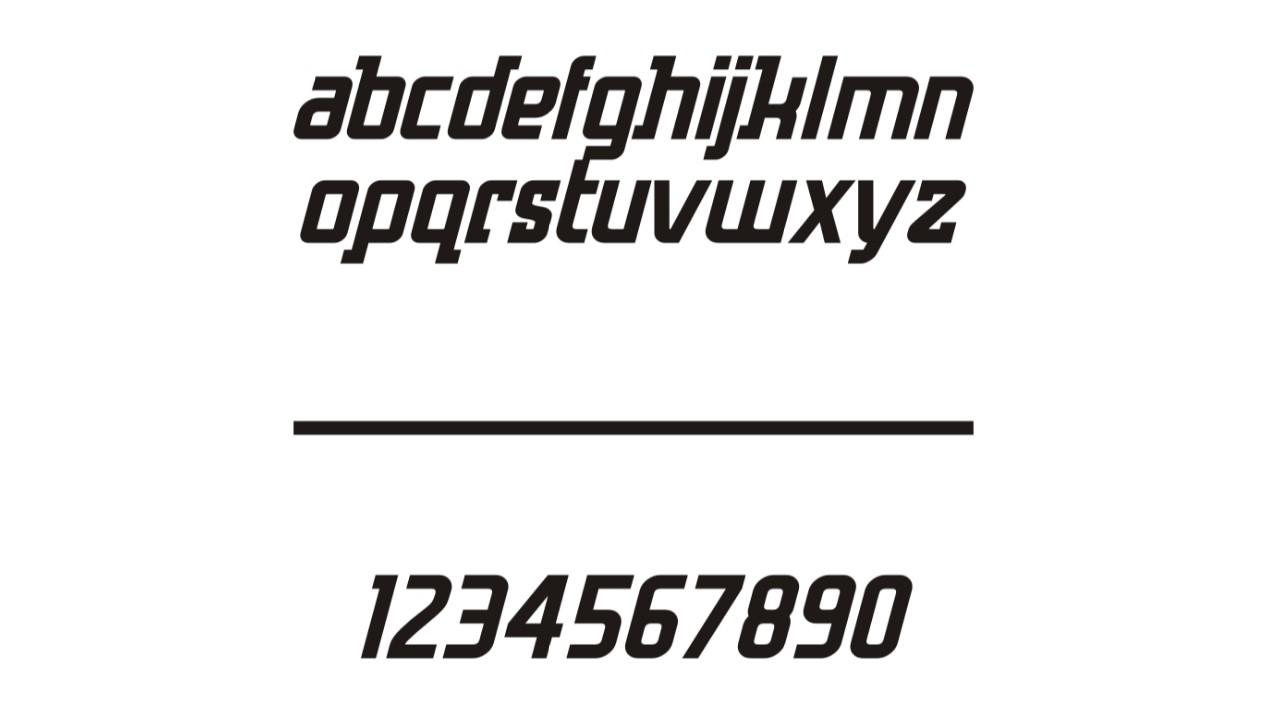 Логотипті жасау кезінде ерекше формалары бар Xplor шрифті