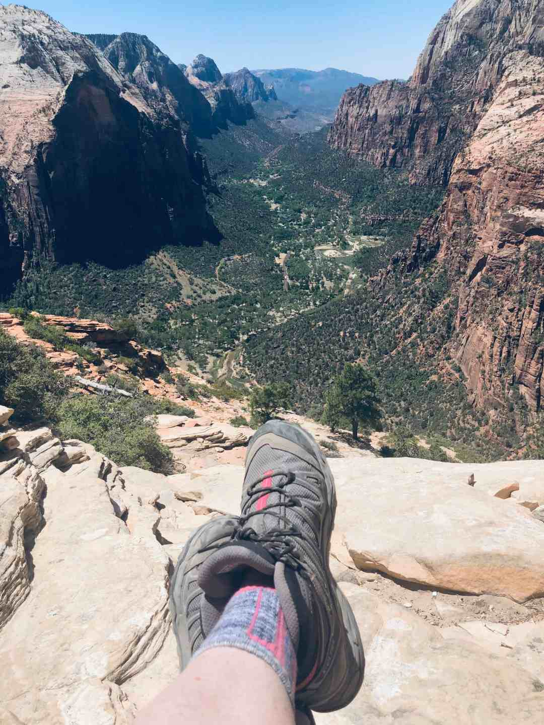 Angels Landing view from the top
