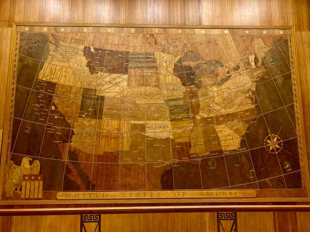 Map Room in Mammoth Hot Springs Hotel