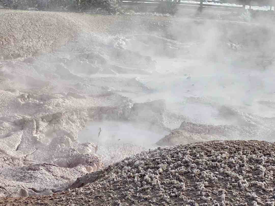 Mud pots in Yellowstone National park