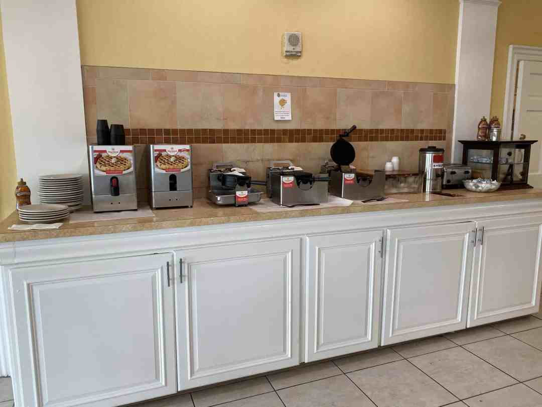 Waffle bar at Dunes Village