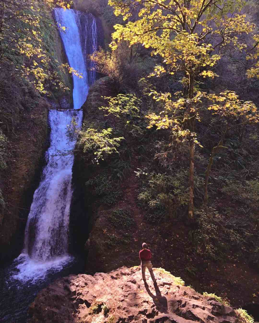 Bridal Veil Falls Oregon trail