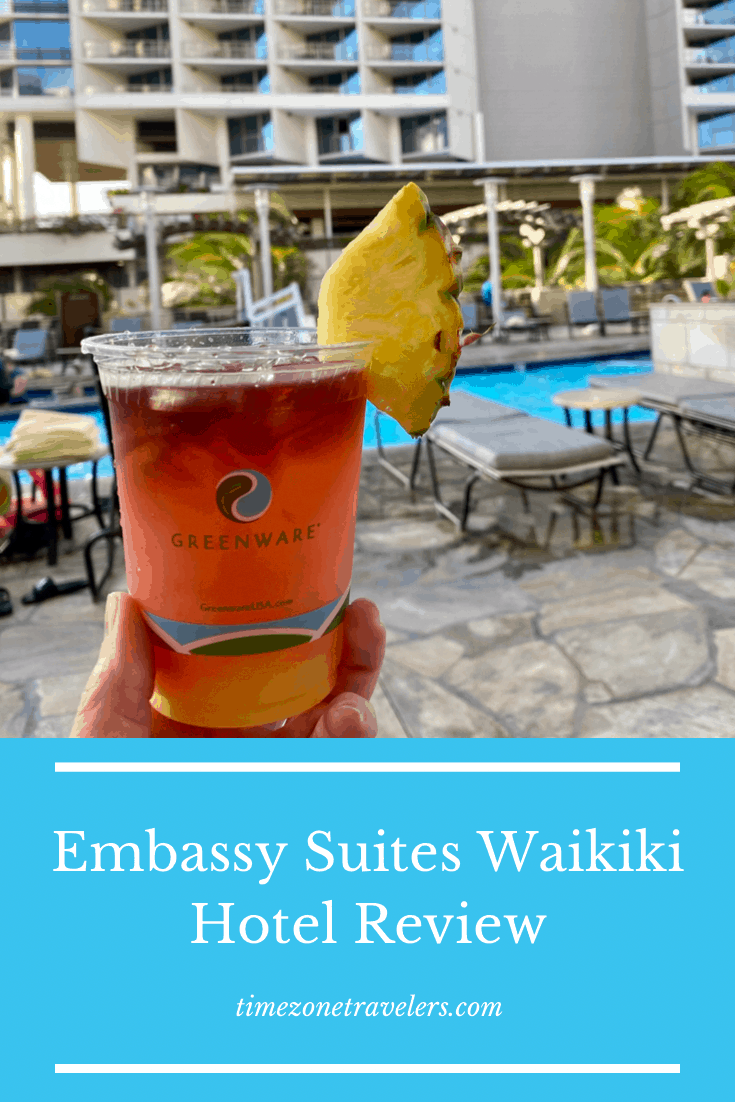 Fruity drink served at Embassy suites evening reception