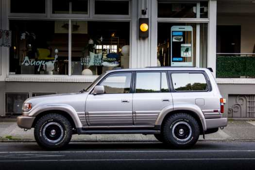 Lexus LX 450 in Vancouver British Columbia with updated Toyota TRD Pro Wheels