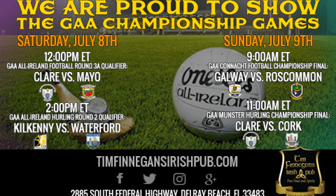 GAA Championship Games Shown in Delray Beach